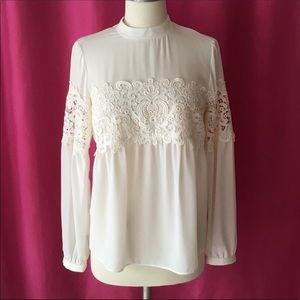 Express Lace Long Sleeve Top
